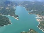 Veduta aerea lago del Salto